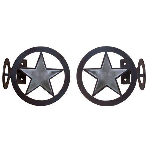 Texas star curtain brackets