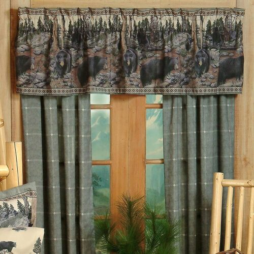 Bear drapes and valance