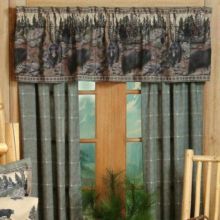 Bear drapes and valance