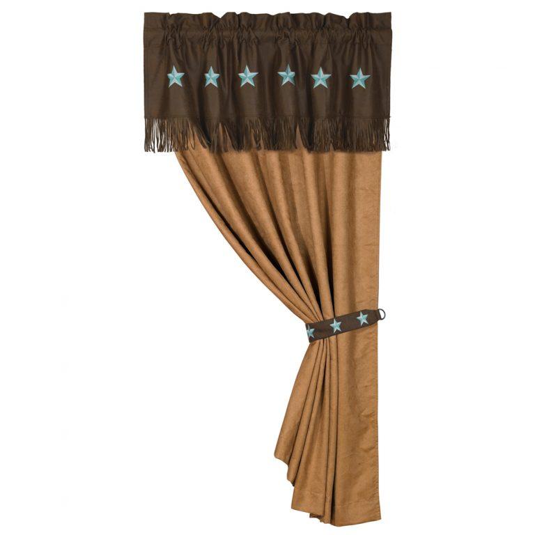 Turquoise laredo drapes