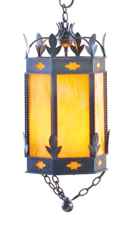 foyer light with an almost medieval look