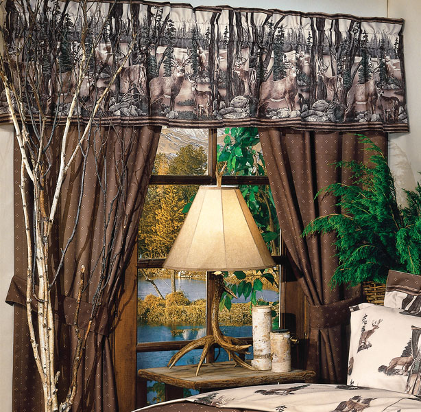 Whitetail dreams drapes and valance