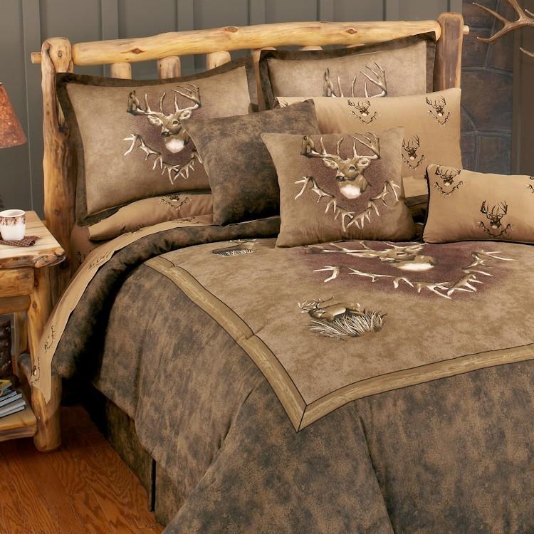 Whitetail Ridge comforter set with deer