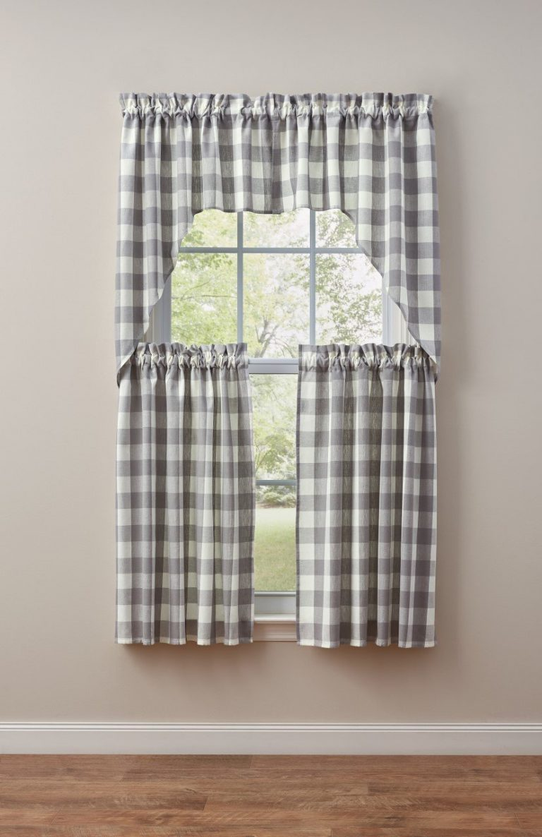 Wicklow gray valance and tiers