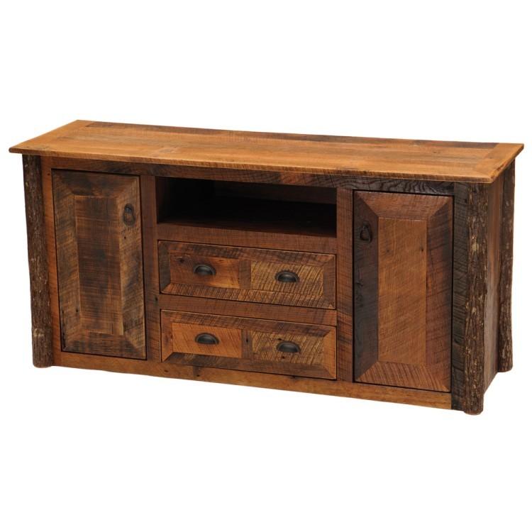 barnwood widescreen tv stand