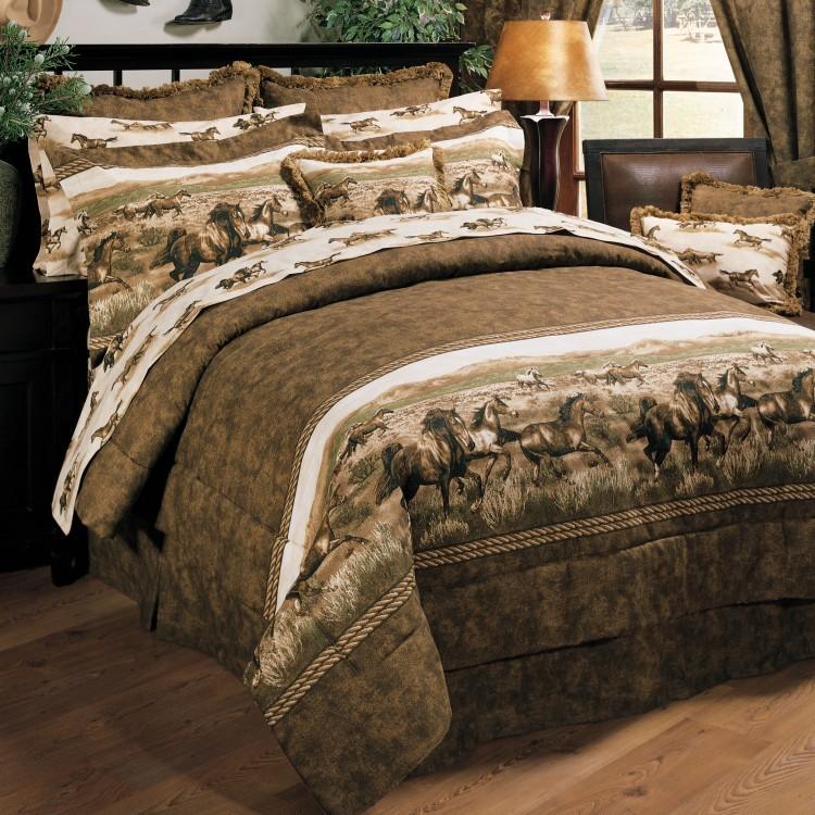 Wild horses comforter