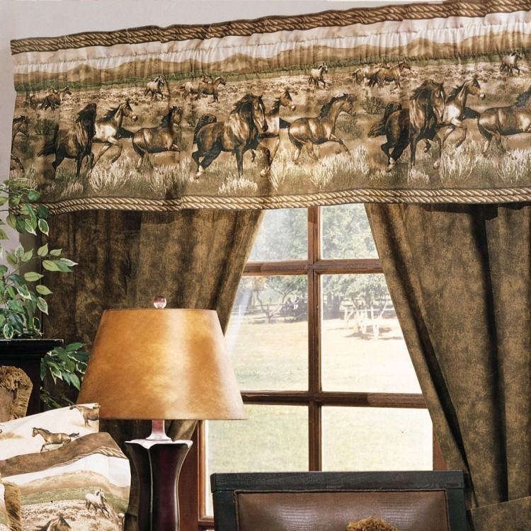 Wild Horses drapes and valance