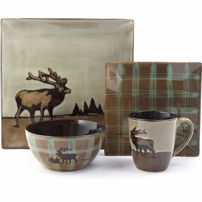 Northwoods dinnerware with elk