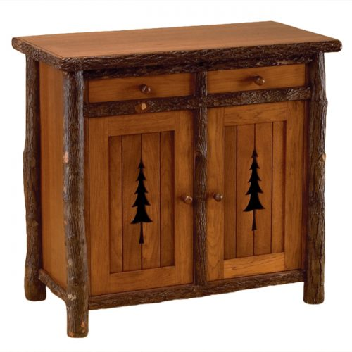 Pine tree wine cabinet