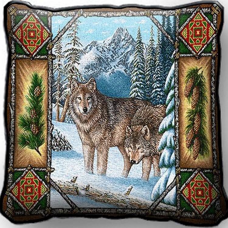Wolf lodge pillow