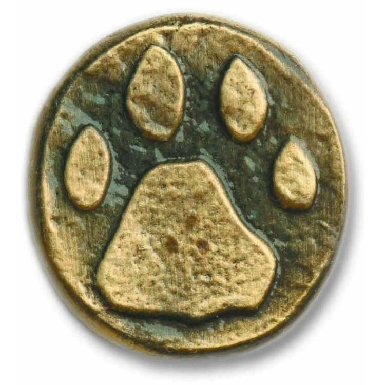 wolf track knob for furniture or cabinets
