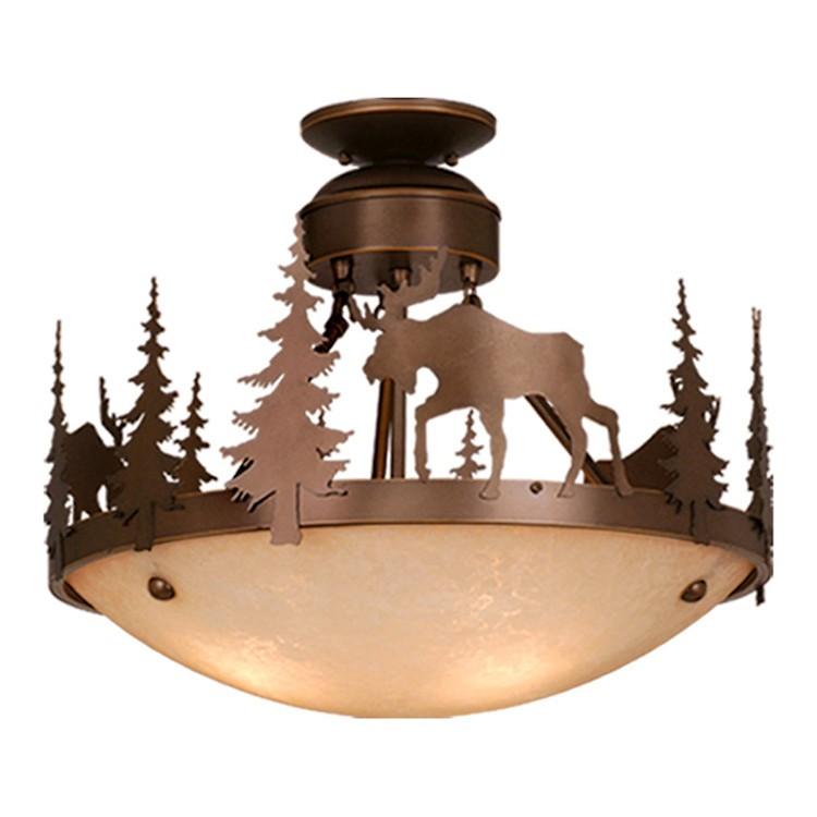 Yellowstone moose ceiling light