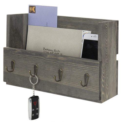 Barnwood gray mail organizer