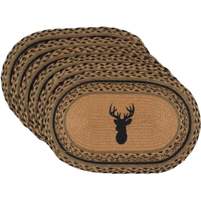 Placemats with deer mount silhouette