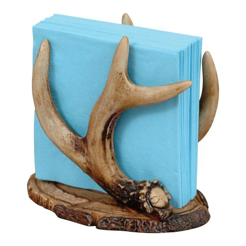 Faux antler napkin holder