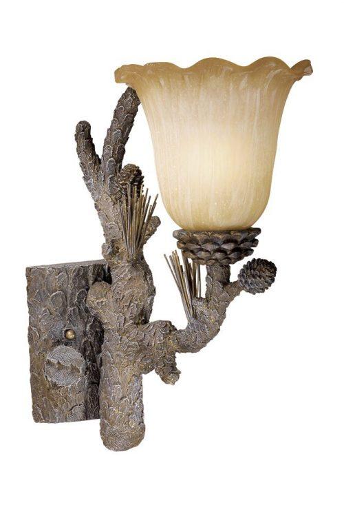 aspen pine cone sconce