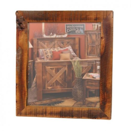 Mirror with barn wood frame