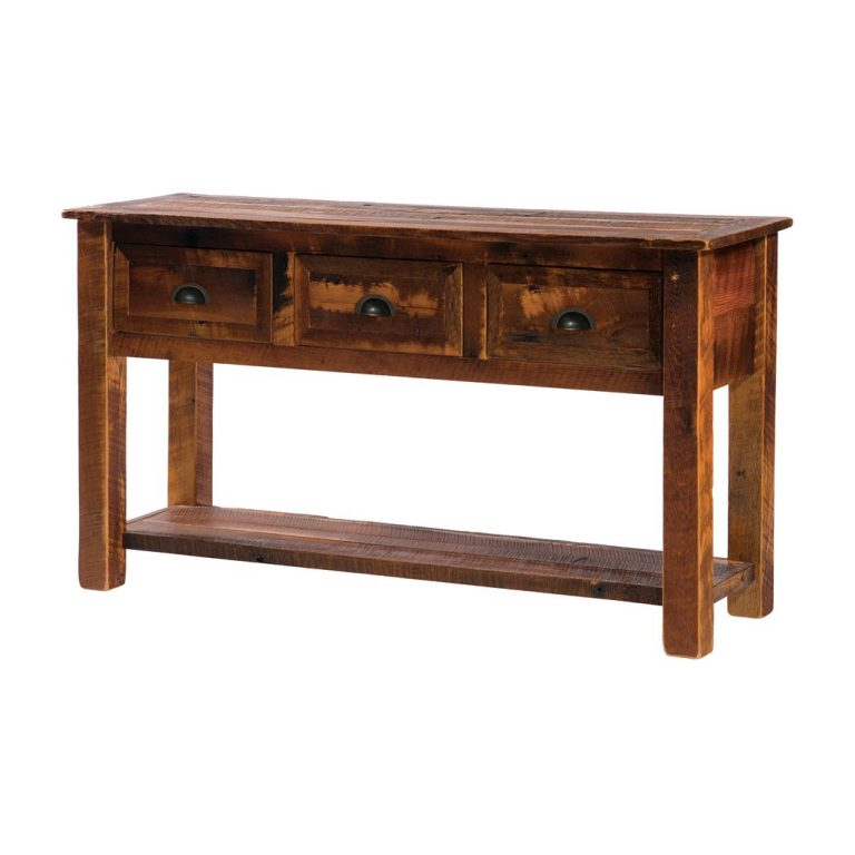 Barnwood TV stand with legs