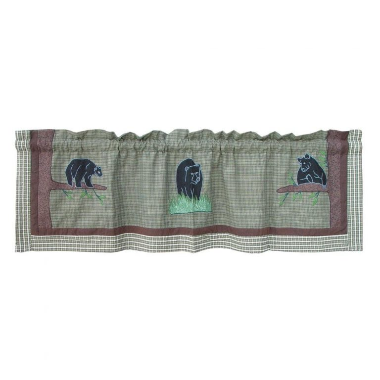 Bear Country valance with 3 bears