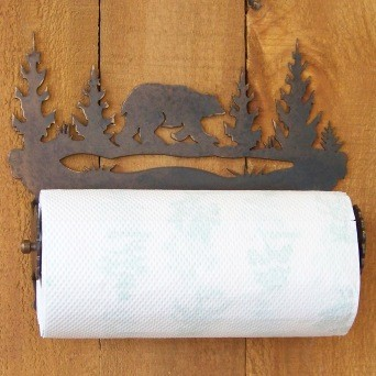 bear silhouette paper towel holder