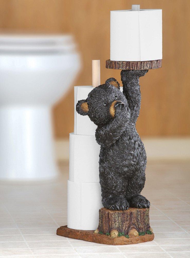Bear cub toilet paper holder