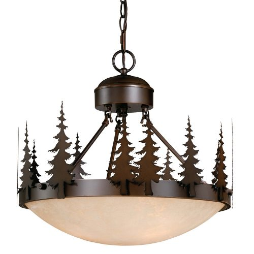 "Big Sky semi-flush 18"" ceiling light"