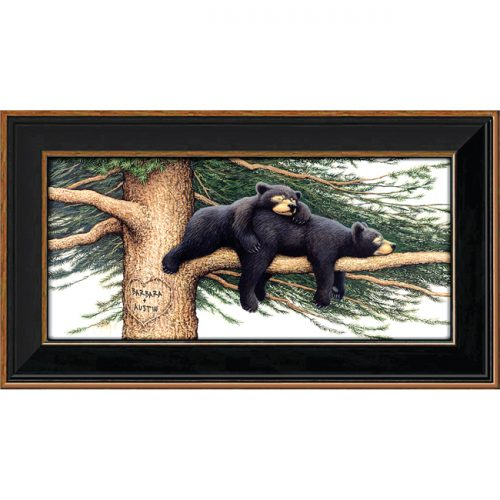 Personalized black bear print