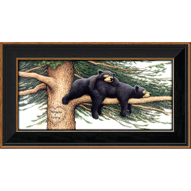 Personalized black bear print