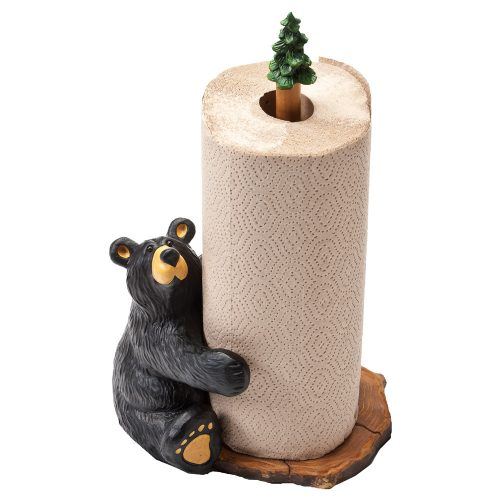 Brawnie Bruin bear paper towel holder