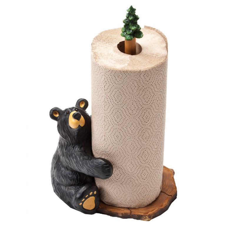 Brawnie Bruin bear paper towel holder