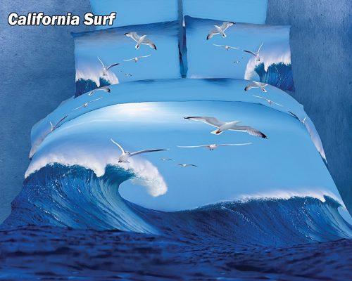 California Surfing duvet cover set