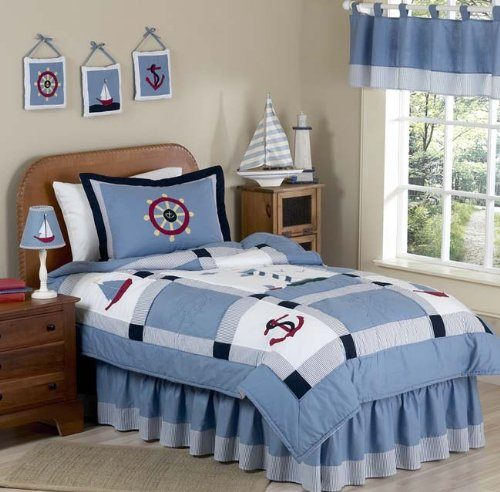 Sweet JoJo Designs Come Sail away bedding for kids