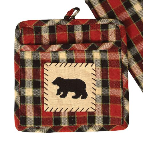 Concord black bear potholder