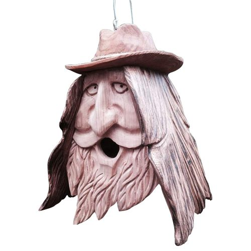 Cowboy head bird house