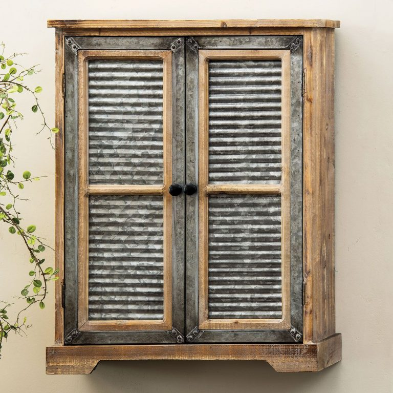 Deadwood corrugated metal cabinet