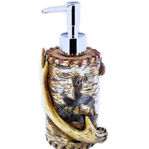 Soap pump with bucks and deer antler