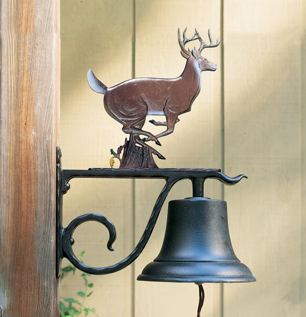 Dinner bell with deer on top