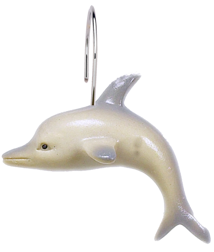 shower curtain hook in shape of dolphin