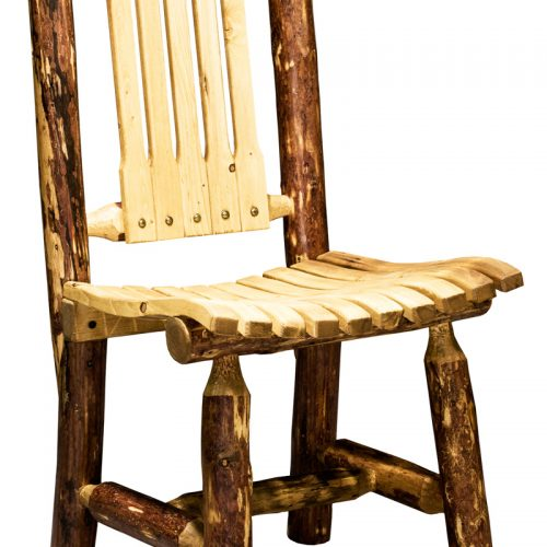 Glacier wood patio chair