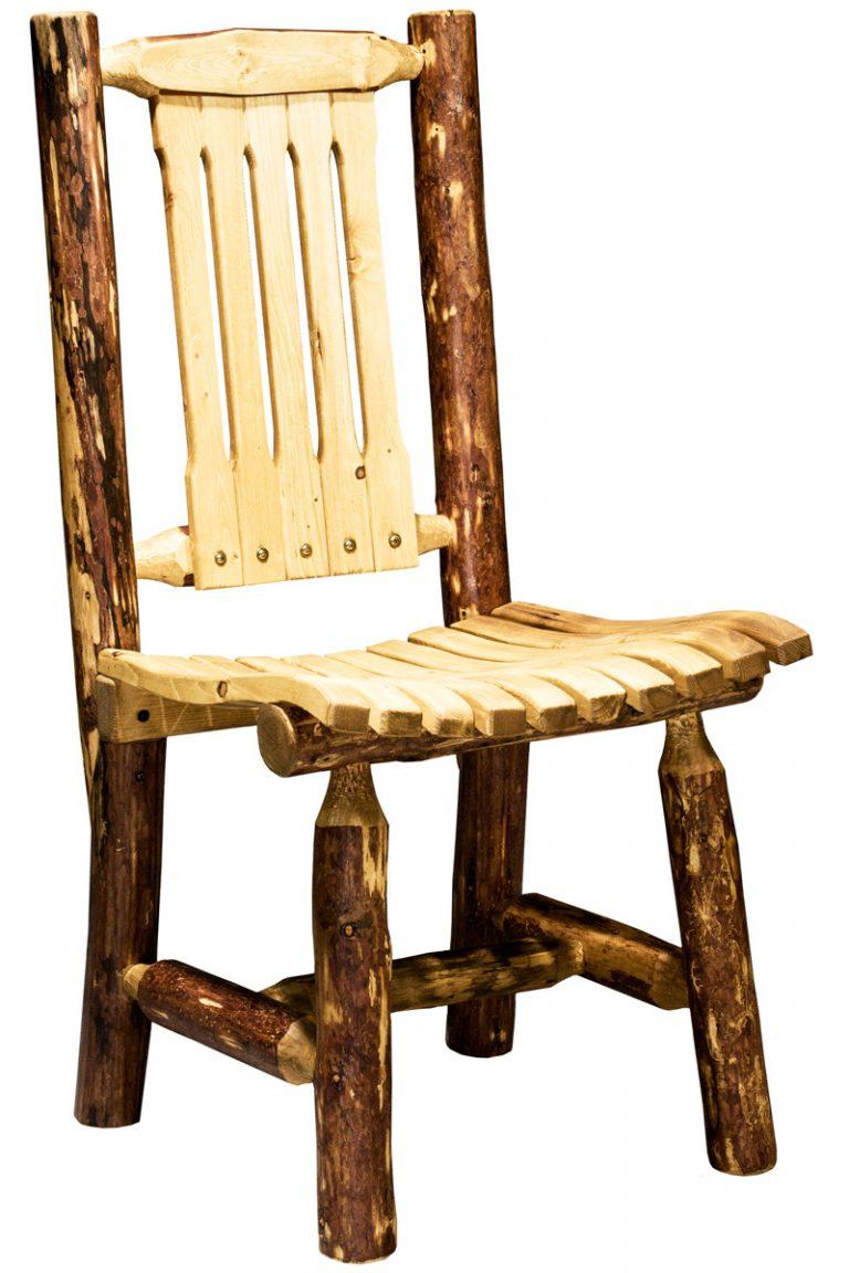 Glacier wood patio chair