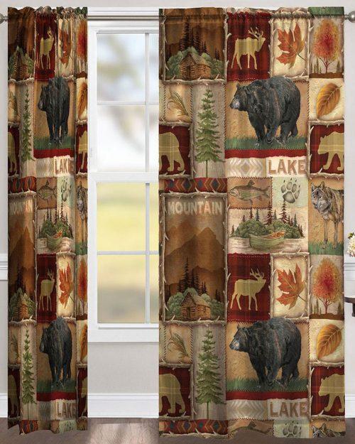 Highland Hills lodge draperies