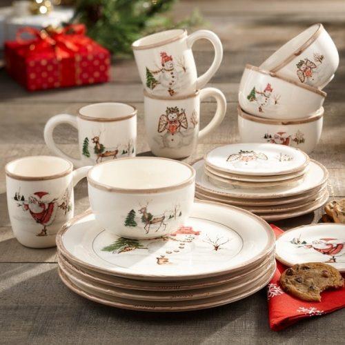 American Atelier Christmas twig dinnerware