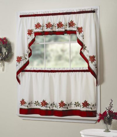 Christmas tier curtains