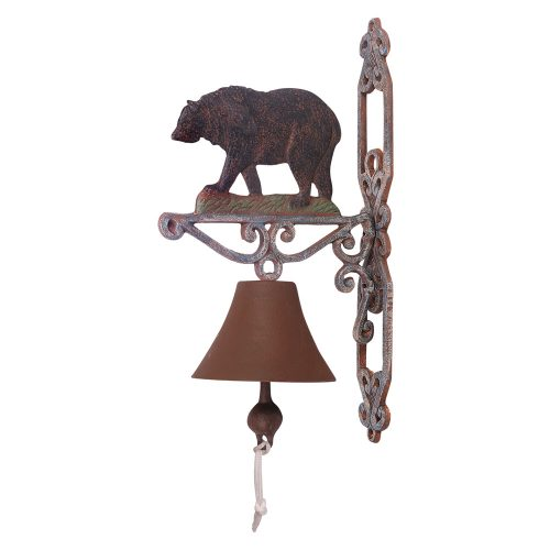 Cast iron black bear bell
