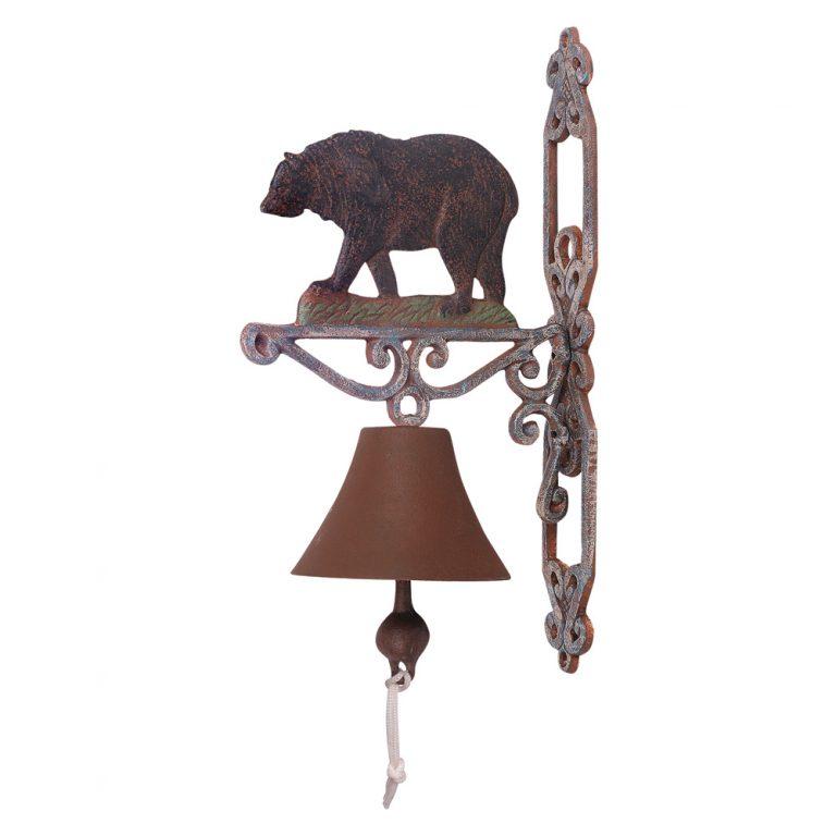 Cast iron black bear bell