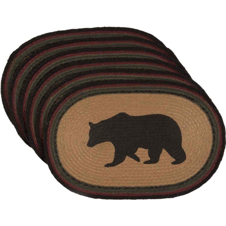 Jute walking bear placemats