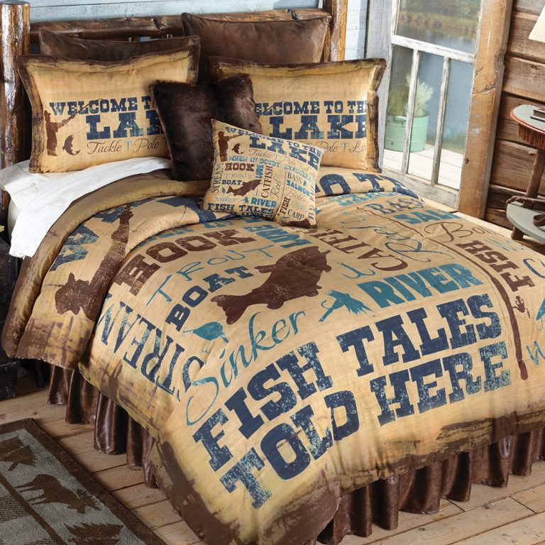 Lake Lifestyle comforter on bed