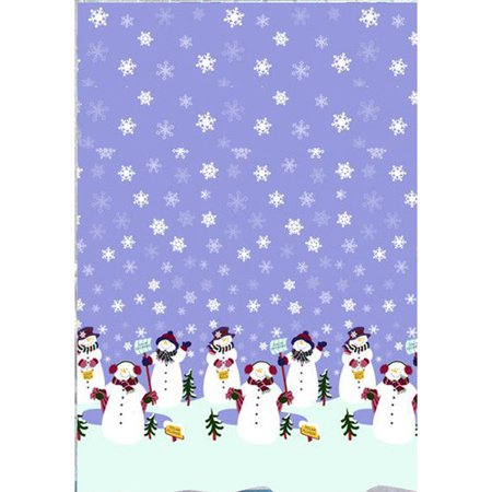 holiday shower curtain with snowmen celebrating snowfall