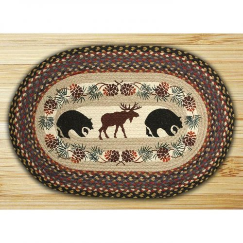 Moose and bear hand printed placemats