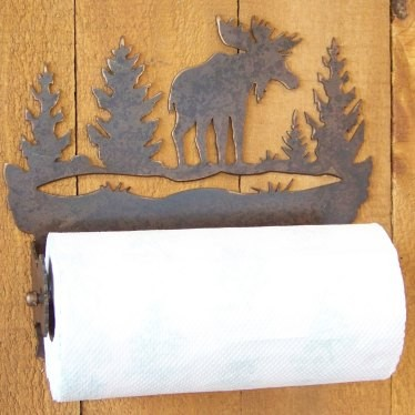 moose silhouette paper towel holder